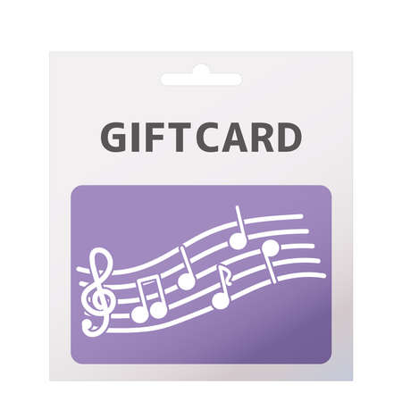 Gift card illustration. Item used when billing.