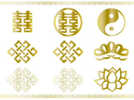 New Year Material Spring Festival Gold