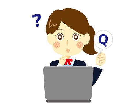Clip art of a high school girl asking a question. Computer class Illusztráció
