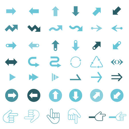 A set of simple and cute arrow icons. Editable with vector data.