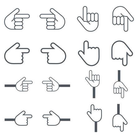 A simple and cute set of pointing icons. Illusztráció