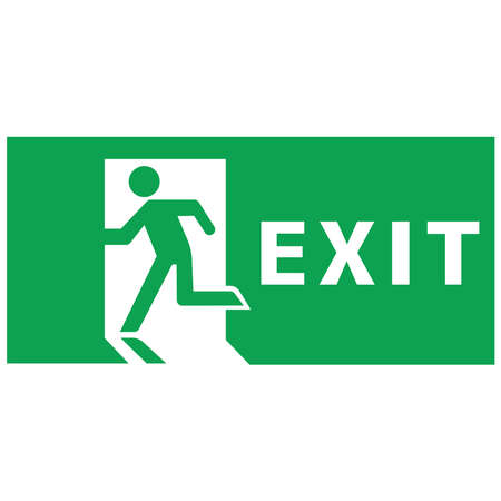 Pictogram sign of emergency exit. Information board. Illusztráció