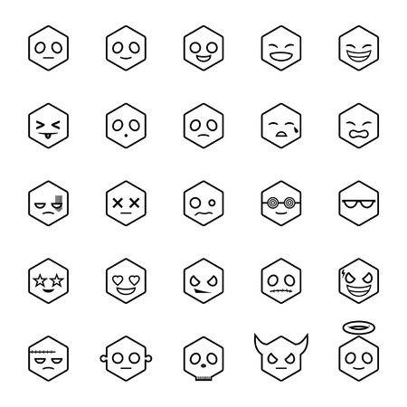 Hexagon Emoticons Stock Vector - 18346283
