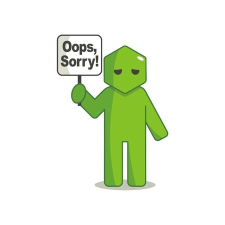 Hexagon Man-Oops Sorry Stock Vector - 18346286