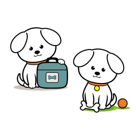 Little White Dog Stock Vector - 18346281