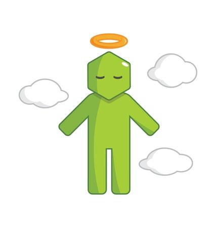 Hexagon Man - Go To Heaven Illustration