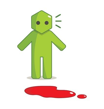 Hexagon Man - I Found Blood Spots