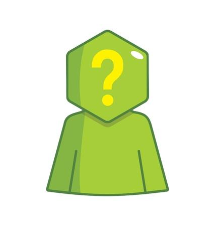 Hexagon Man - Unknown Stock Vector - 18530563