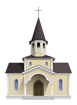 chapel: Vector illustration. Small chapel Illustration