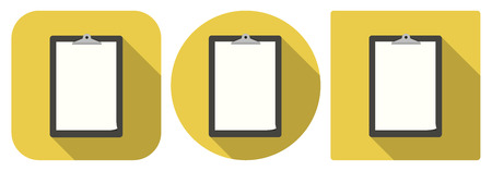 Vector illustration. Square and round Icons of tablet in flat design Vector