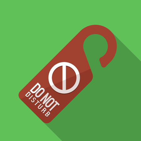 inconvenience: Vector illustration. Icon square shape of sign do not disturb in flat design