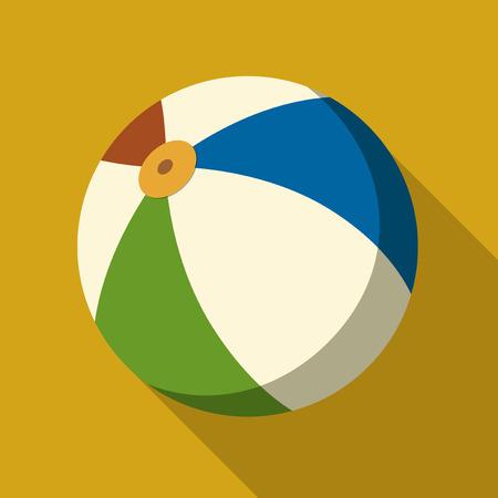 balon voleibol: Ilustraci�n del vector. Icono forma cuadrada de la pelota de playa en dise�o plano