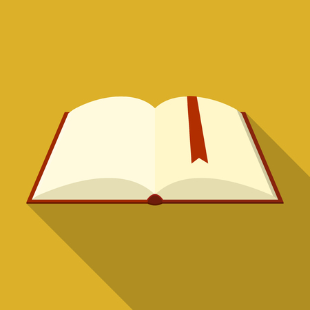 Vector illustration. Icon square shape of book encyclopedia in flat design