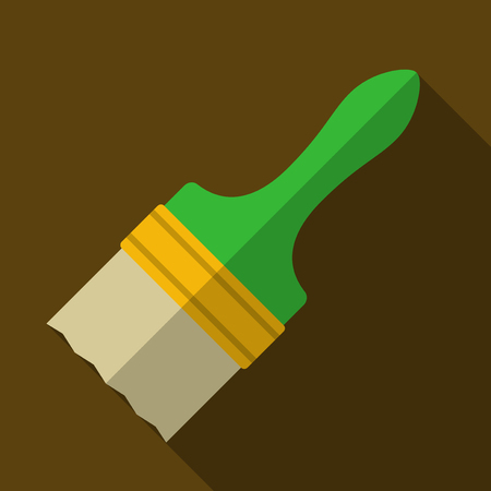 raceme: Vector illustration. Icon of toy paint brush in flat design with shadow effect