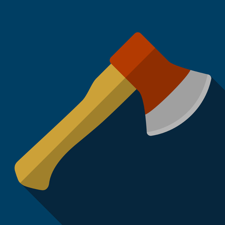felling: Vector illustration. Icon of toy axe in flat design with shadow effect Illustration