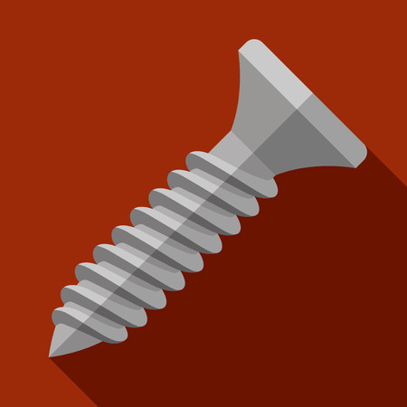 metalware: Vector illustration. Icon of toy screw in flat design with shadow effect