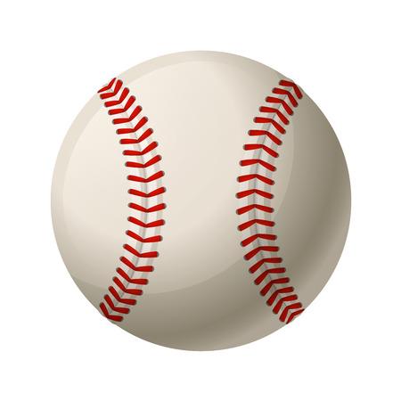 白い背景で隔離の革野球ボール  イラスト・ベクター素材