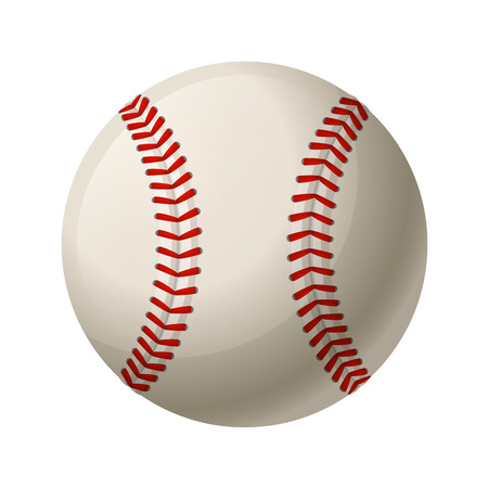 Leather baseball ball isolated on a white background