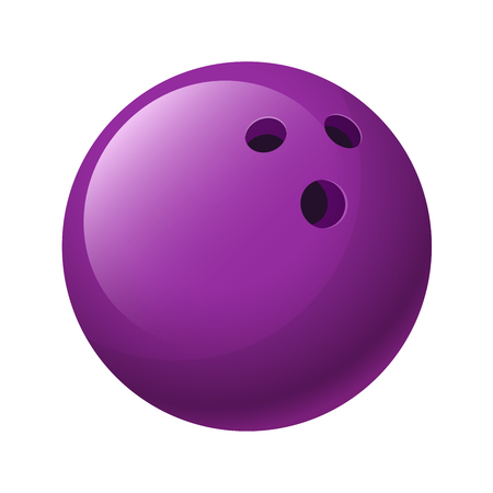 sport background: illustration. Purple bowling ball isolated on a white background Illustration