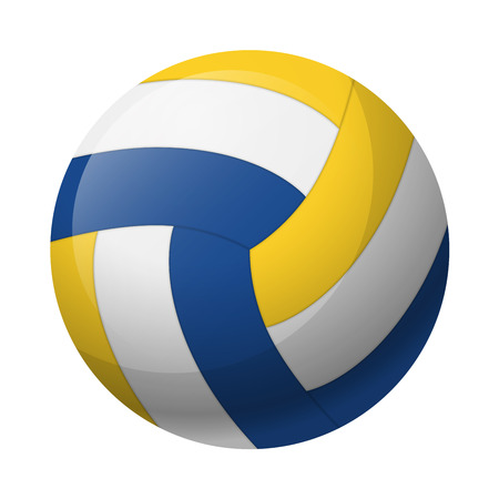 Leather volleyball ball isolated on a white background