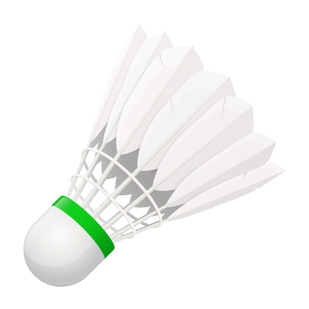 shuttlecock: Vector illustration. Shuttlecock for badminton from bird feathers isolated on white background Illustration