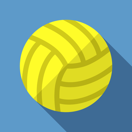 Vector illustration. Icon of toy leather volleyball ball in flat design with shadow effect Illustration