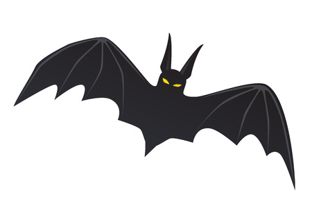 ghouls: Vector illustration. Flying bat isolated on white background