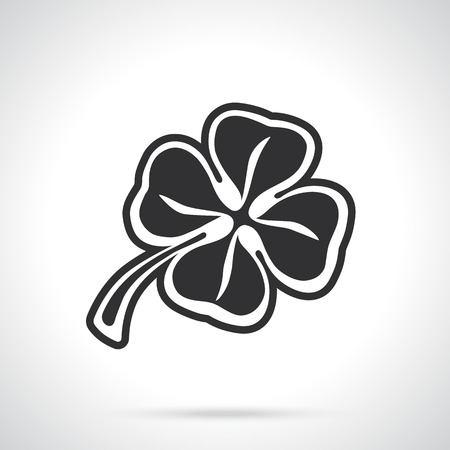 quatrefoil: Vector illustration. Silhouette of four leaf clover. Lucky quatrefoil. Good luck symbol. Decoration for greeting cards, posters, emblems Illustration