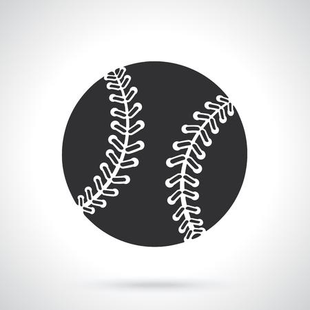 ベクトルの図。野球ボールのシルエット。スポーツ用品。グリーティング カード、壁紙のパターン要素