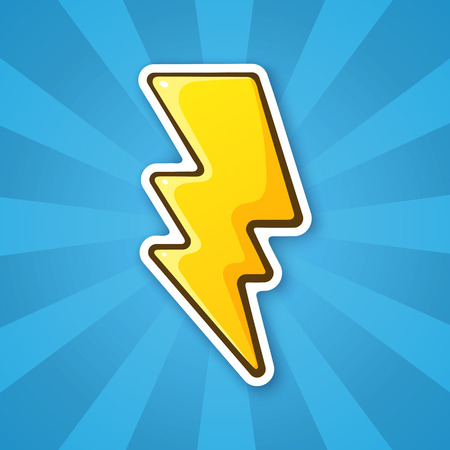 Sticker electric lightning bolt