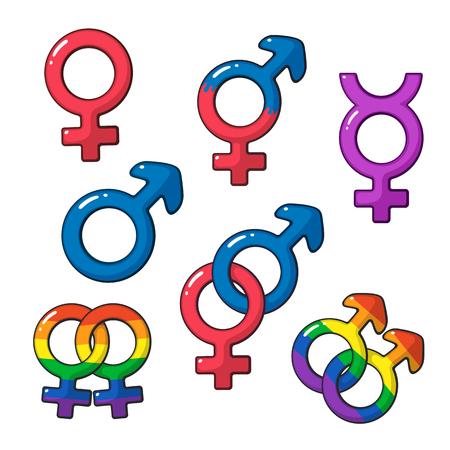 Símbolos Lgbt Orientação De Identidade De Gênero