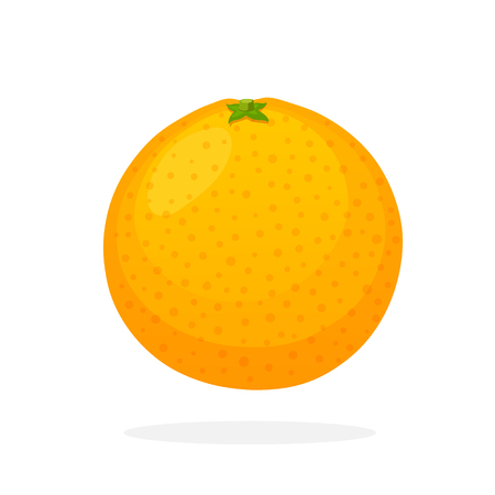 funny pictures: Vector illustration in flat style. Whole orange. Healthy vegetarian food. Citrus fruits. Decoration for greeting cards, prints for clothes, posters, menus