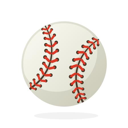 フラット スタイルのベクトル図です。野球ボール。スポーツ用品。グリーティング カードの装飾は、洋服、ポスター、壁紙の印刷します。