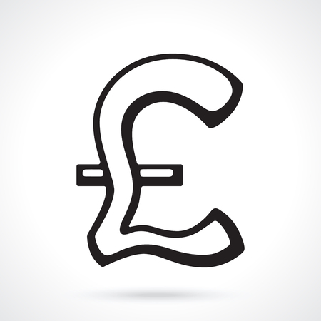 Silhouette Of British Pound Sign Vector Illustration The Symbol