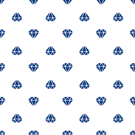Vector illustration. Seamless pattern with silhouettes of diamonds directed up and down on white background