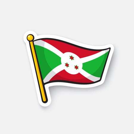 Vector illustration Flag of Burundi Illustration