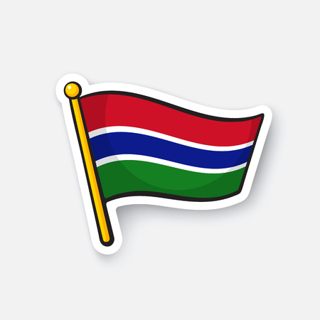 Vector illustration Flag of The Gambia Illustration