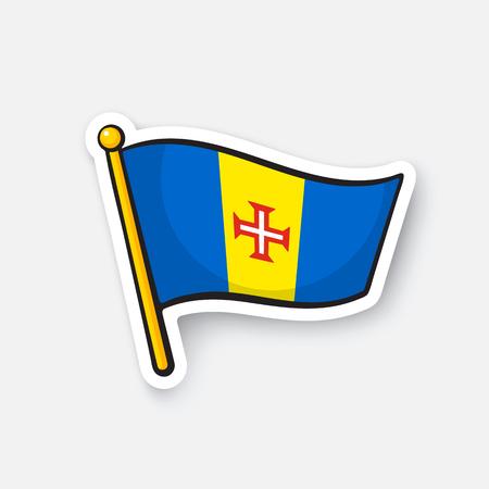 Sticker national flag of Madeira