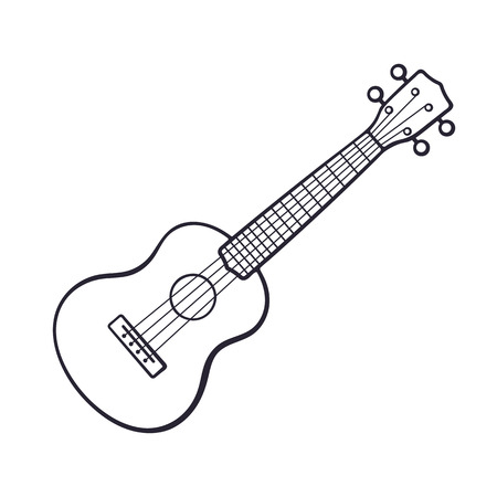 Doodle of small classical guitar