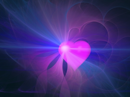 emanating: Heart emanating an aura, abstract shapes  Stock Photo