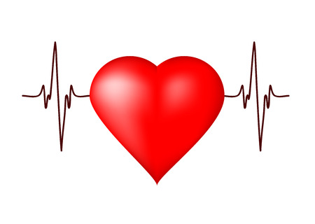 Heart with heart beat signal