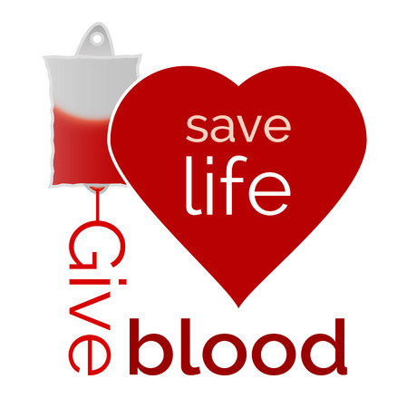 Give blood, save life  Vector