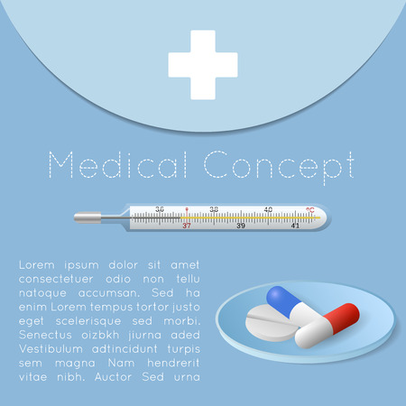 Medical health care background concept - vector illustration