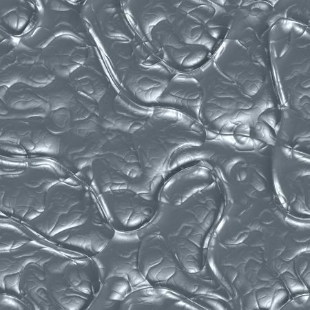 Molten iron 3d generated background, shiny silver surface, seamless metallic texture. Abstract background.