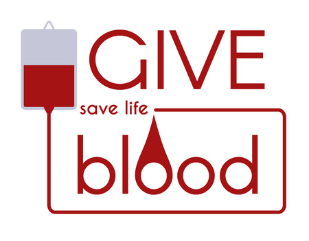 donor: Give Blood Save Life. Vector medical concept. Illustration
