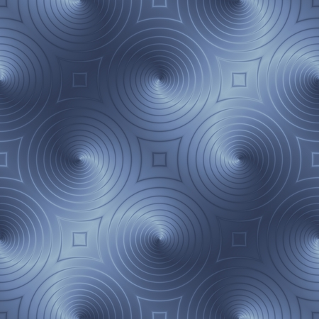Blue circular shapes creates an interesting effect pattern. Optical illusion background.
