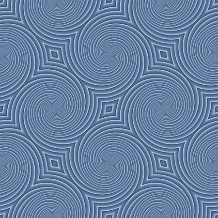 Circular shapes creates an interesting seamless blue pattern. Texture background.