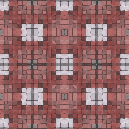 Red checkered seamless pattern. Abstract design.