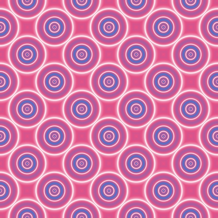 Seamless pattern with blue and white circles on pink background. Happy background.