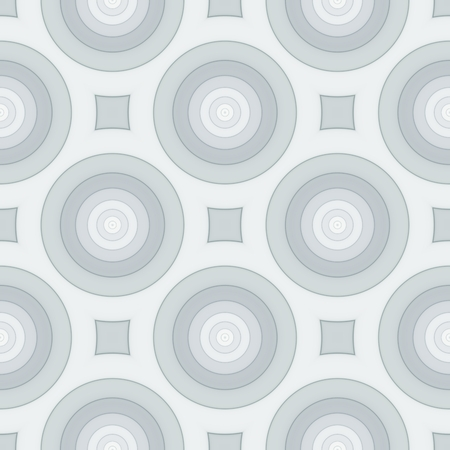 Retro seamless pattern with circles. Art illustration.